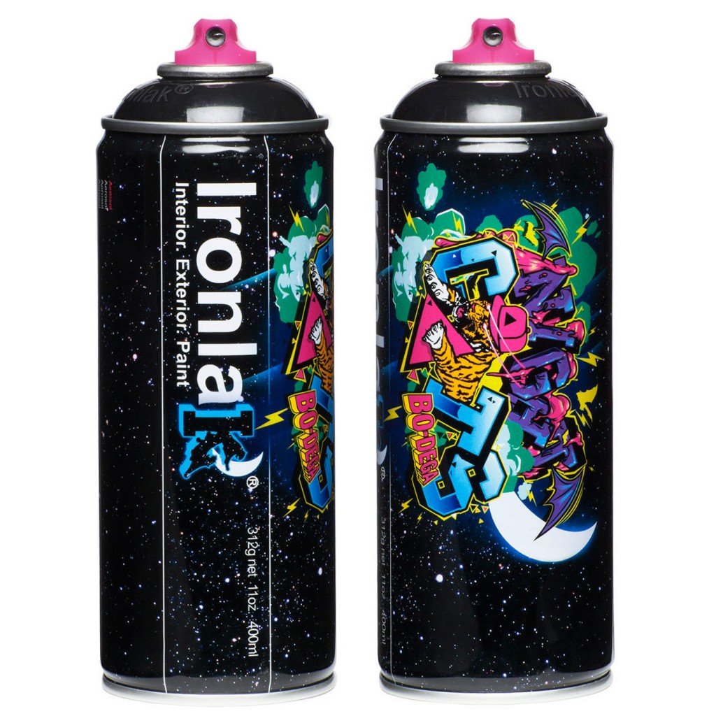 2 Black Flat Ironlak 400ml Cans